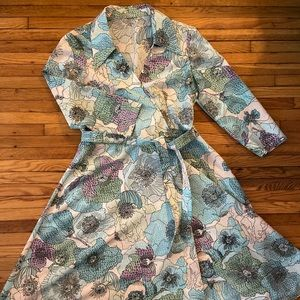 Vintage Floral Wrap Dress! Sz M/L